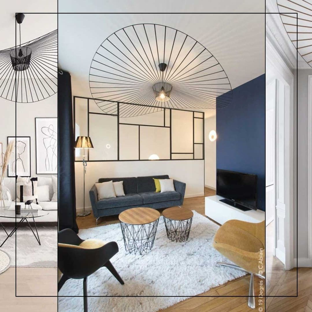 Décoration espaces entrée et séjour d'un appartement