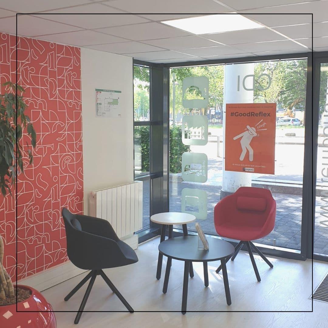 Rénovation et décoration d'une agence d'intérim réseau Temporis 300 m2